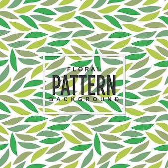 Groene bloemen verlaat naadloze patroon achtergrond