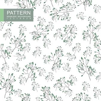 Groene bloesem takken naadloze patroon