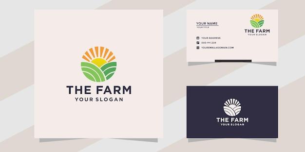 Groene boerderij logo sjabloon