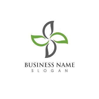 Groene boom blad logo ecologie natuur element vector