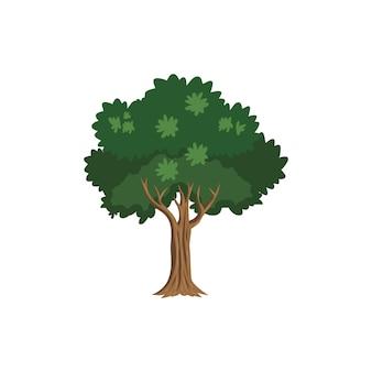 Groene boom pictogram illustratie clipart sjabloon