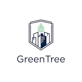 Groene boomhut logo
