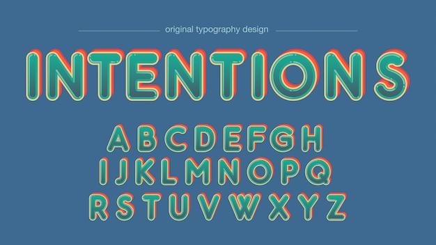 Groene bubble cartoon afgeronde typografie