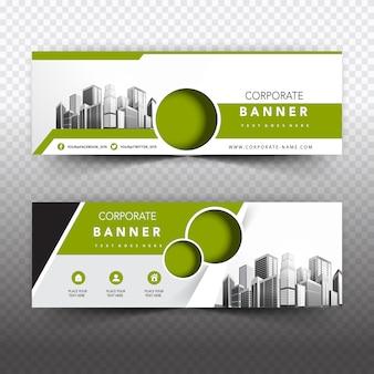 Groene business banner