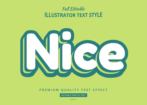 Groene cartoon teksteffect