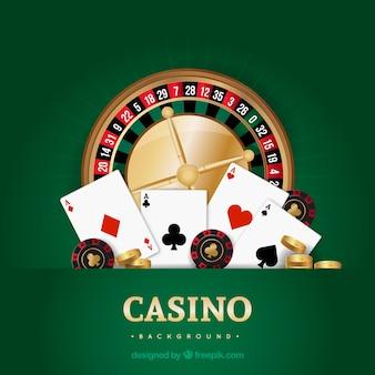 Groene casino achtergrond