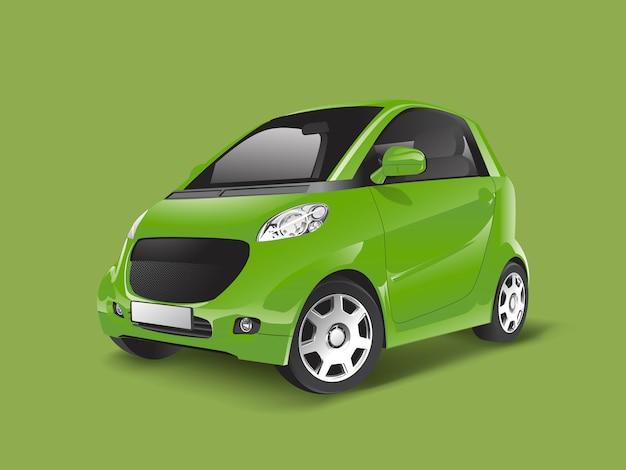 Groene compacte hybride auto vector