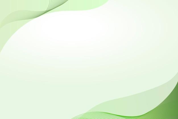 Groene curve frame sjabloon vector