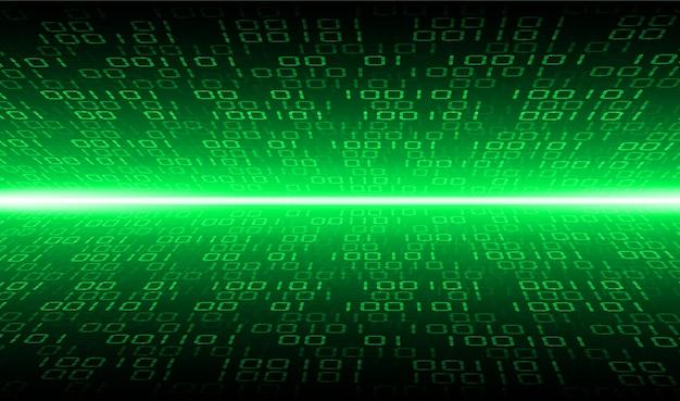 Groene cyber binaire toekomstige technologie concept achtergrond