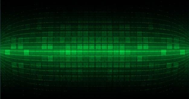 Groene cyber kring toekomstige technologie concept achtergrond