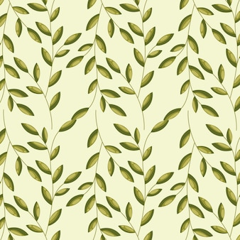 Groene dakrand, patroonillustratie