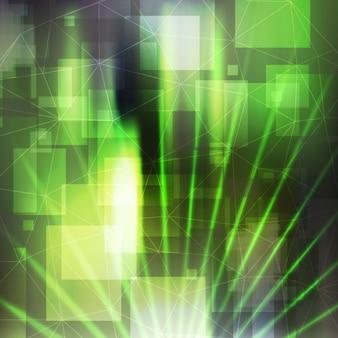 Groene disco met het kwadraat vormen achtergrond