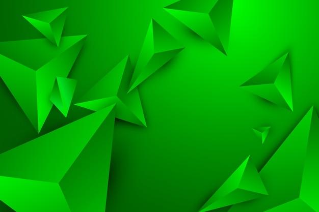 Groene driehoeksachtergrond met levendige kleuren