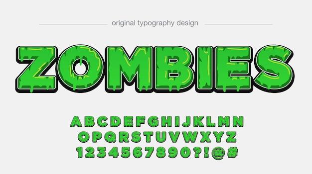 Groene druipende vetgedrukte typografie