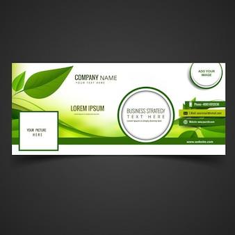 Groene eco facebook omslag
