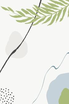 Groene en blauwe tekening instellen vector memphis achtergrond. esthetische schets achtergrond. borstel lineair patroon. pastelvormen dame behang.