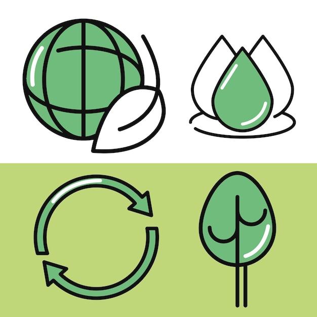 Groene en duurzame iconen
