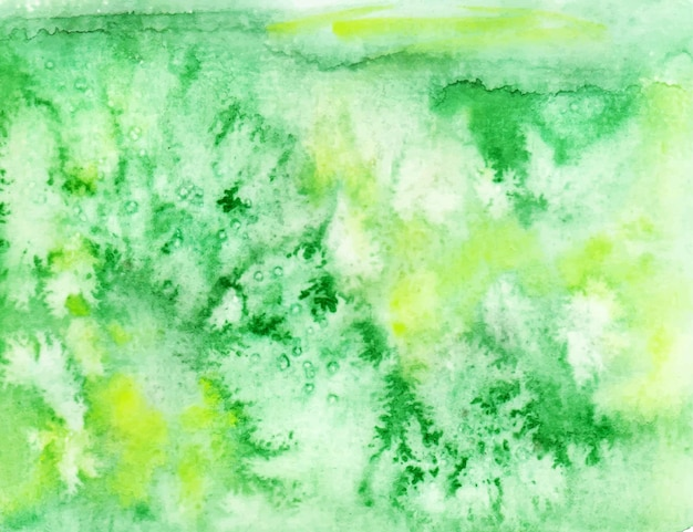 Groene en gele abstracte aquarel achtergrond