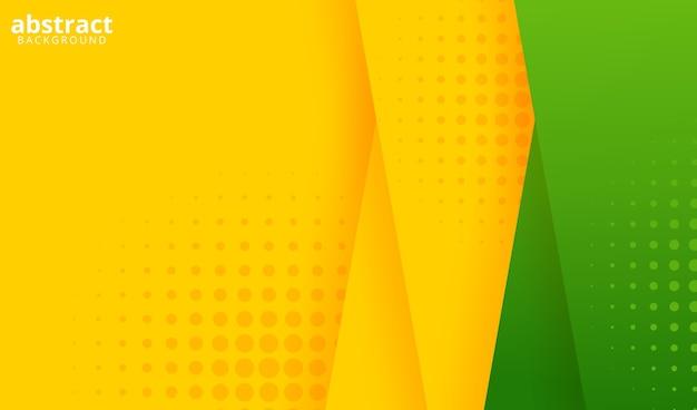 Groene en gele achtergrond met stippen
