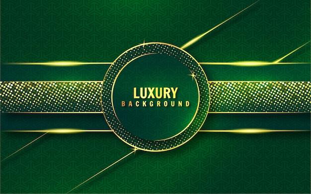 Groene en gouden luxeachtergrond