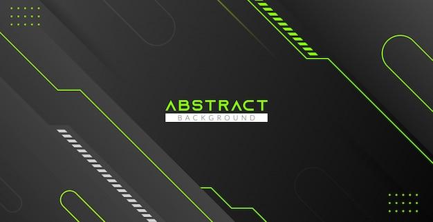 Groene en zwarte moderne abstracte achtergrond