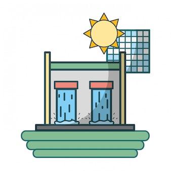 Groene energie cartoon