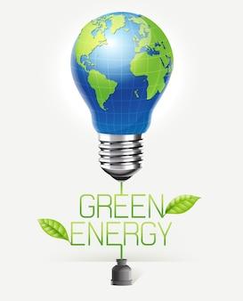 Groene energie conceptueel ontwerp