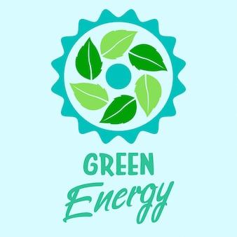 Groene energie eco-logo