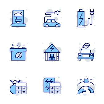 Groene energie icon set