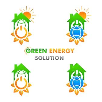 Groene energie illustratie hernieuwbare en schone energie illustratie ontwerpconcept op witte achtergrond