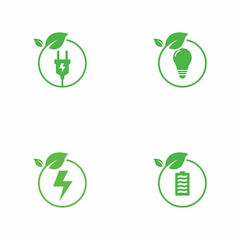 Groene energie logo-collectie