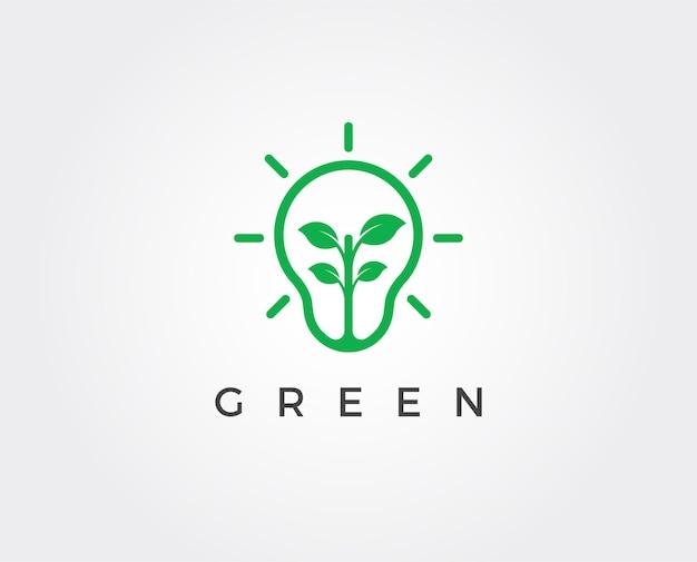 Groene energie logo sjabloon