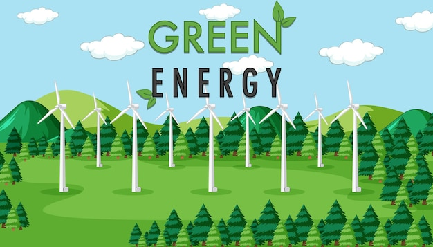 Groene energie opgewekt door windturbine