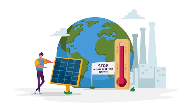 Groene energie opwarming van de aarde en milieuproblemen