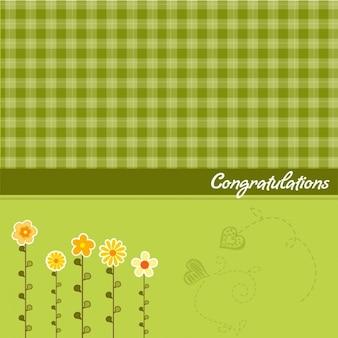 Groene felicitaties kaart