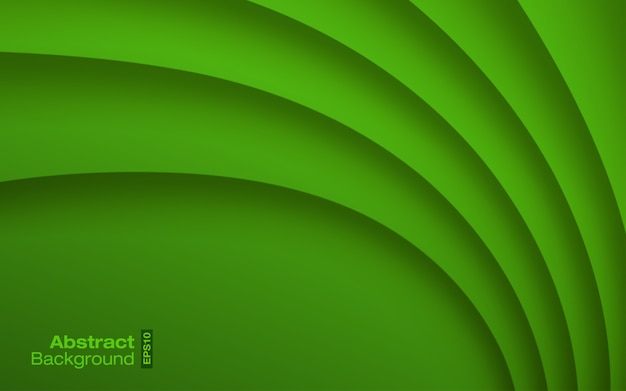 Groene felle kleur golvende achtergrond. visitekaartje modern patroon. papier kromme schaduw textuur.