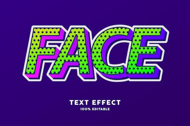 Groene frisse kleur met polkadot en gelaagd verloop teksteffect