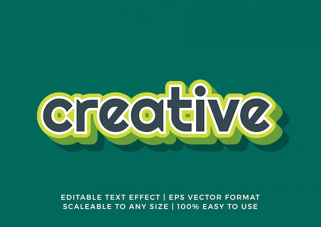 Groene frisse moderne teksteffect