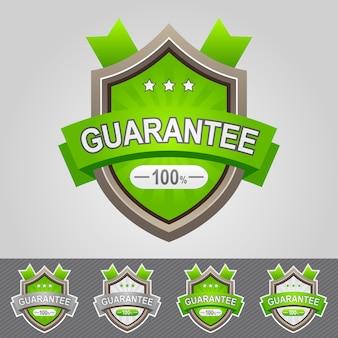 Groene garantie schild pictogram illustratie