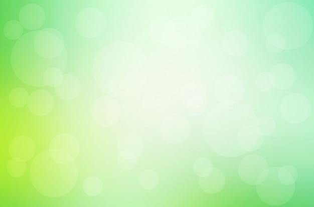 Groene gele vage achtergrond met bokehlichten