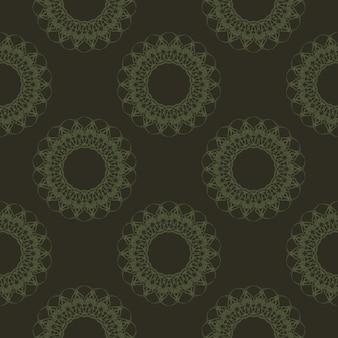 Groene geometrische abstracte naadloze patroon. grafische achtergrond vector