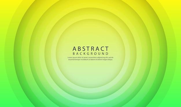 Groene geometrische abstracte overlappende laag als achtergrond met 3d decoratie van cirkelvormen