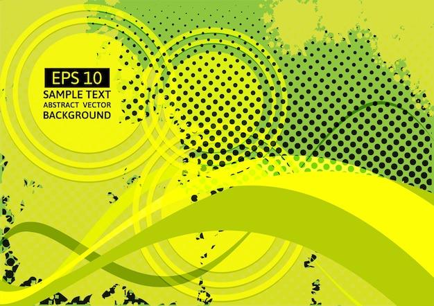 Groene golf abstracte vectorachtergrond met exemplaarruimte