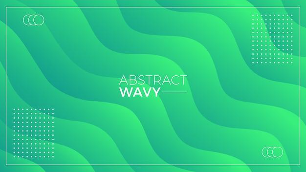 Groene golvende abstracte achtergrond