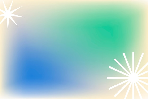 Groene gradiëntachtergrond in abstract memphis met funky rand