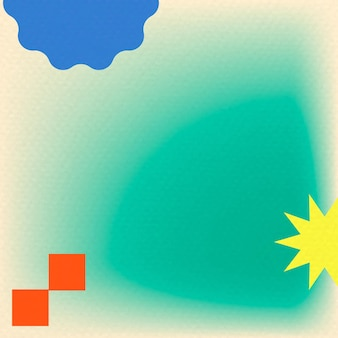 Groene gradiëntachtergrond in abstracte memphis met retro rand