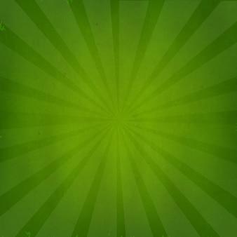 Groene grunge achtergrond met sunburst met verloopnet geïsoleerd op groene retro achtergrond