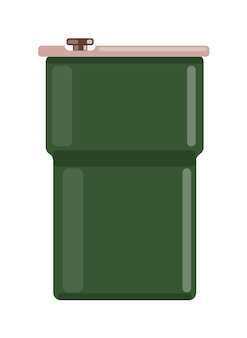 Groene jerrycan tank dump geïsoleerd op witte achtergrond