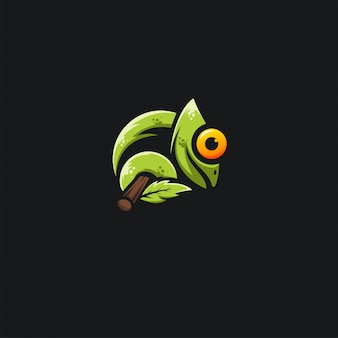 Groene kameleon design ilustration