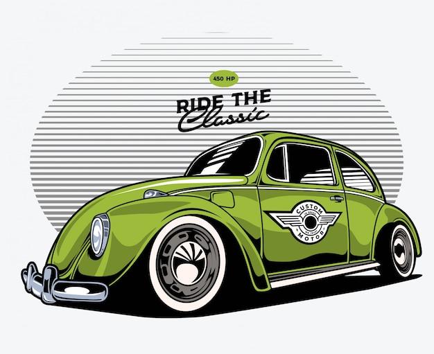 Groene klassieke auto